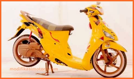 mio-sporty-modifikasi-warna-kuning-sederhana