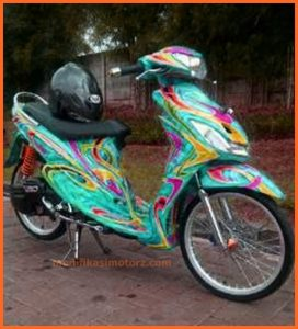 modifikasi-motor-mio-sporty-2009-biru-custom