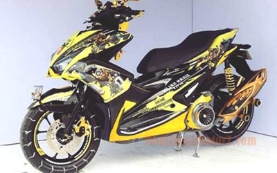 gambar-modifikasi-aerox-155-kuning-bumble-bee