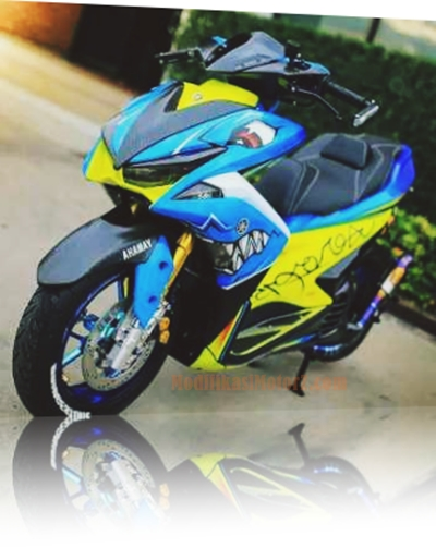 modifikasi-aerox-155-biru-shark-style