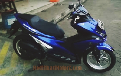 yamaha-aerox-155-biru-modifikasi-simple