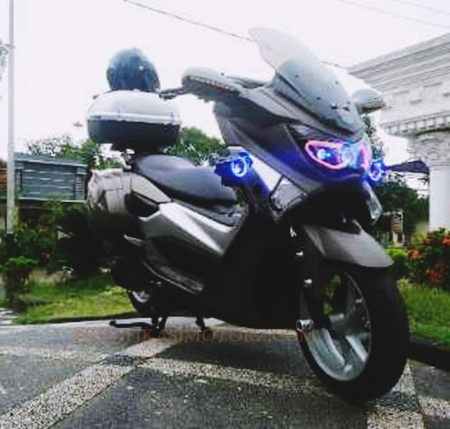 foto-modifikasi-yamaha-nmax-warna-abu-abu-lampu-led-custom