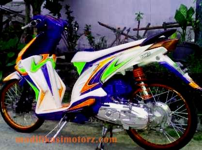 modifikasi motor honda beat airbrush 2