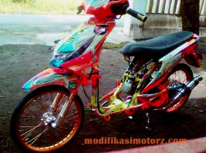 modifikasi motor honda beat airbrush 3