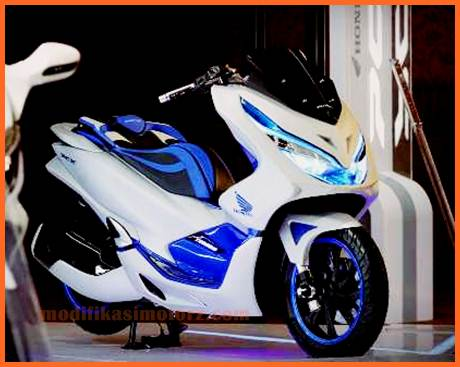 modifikasi-honda-pcx-Futuristic-Techno
