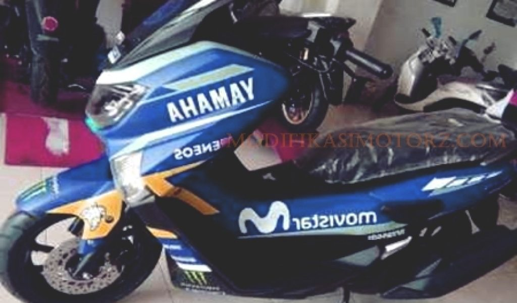 modifikasi decal yamaha nmax biru  modifikasimotorz