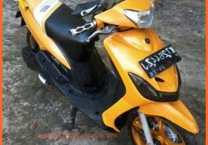 mio-sporty-modifikasi-warna-kuning-polosan