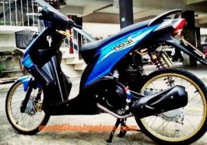 modifikasi beat standar warna biru