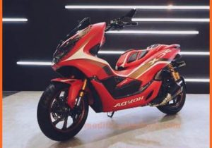 modifikasi-honda-pcx-2018-Red-Sporty