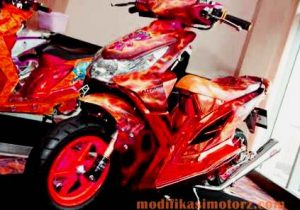 modifikasi-motor-honda-beat-airbrush-kontes