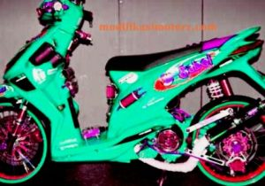 modifikasi motor honda beat fi airbrush