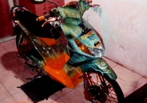 modifikasi motor honda beat full airbrush