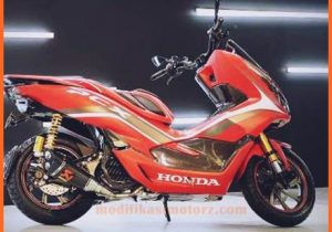 modifikasi-motor-honda-pcx-Red-Sporty